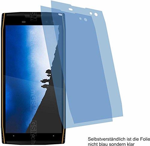 4ProTec I 2X Crystal Clear klar Schutzfolie für Doogee S50 Bildschirmschutzfolie Displayschutzfolie Schutzhülle Bildschirmschutz Bildschirmfolie Folie