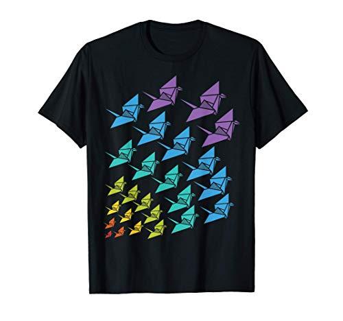 Origami Kraniche japanische Origami Kranich Bastell Geschenk T-Shirt