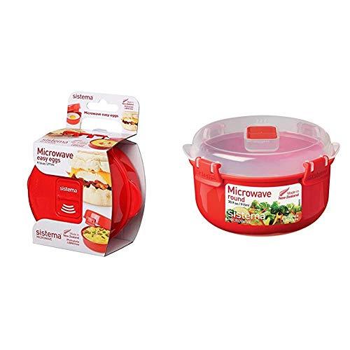 Sistema Apta para microondas fácil de Huevos, 270 ml, cocinar Tortilla + 1113 Hermético Microwave