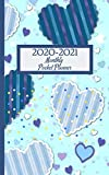 """2020-2021 Monthly Pocket Planner: 2-Year Calendar 2020-2021 Monthly Pocket Planner  (Size 5.0"""" x 8.0"""") 24- Month Calendar Schedule Organizer and ... 2020 - December 2021) (Cute Heart Design)"""
