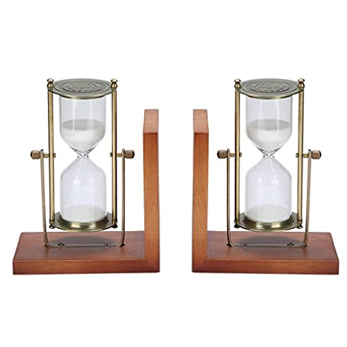 ZLBYB Home Office 2Pcs Innovative Hourglass Sand Clock Sand Timer for Vintage Home Decoration Ornaments Wedding Gift