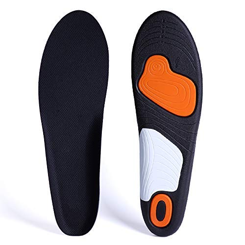 Insoles,Insoles for Men Women,Orthotic Insoles,Flat feet Insoles, Arch Support Insoles, Arched Insoles,Sports Insoles for Men Work Boots Flat feet Pronation Insoles Foot Support Insoles