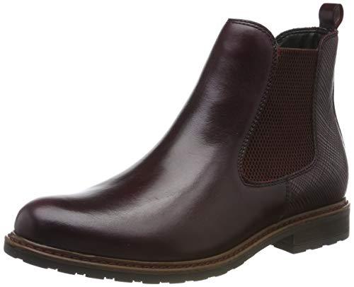Tamaris Damen 1-1-25056-23 Chelsea Boots, Rot (Bord.LEA/STR. 556), 41 EU
