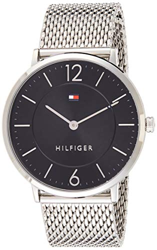 Tommy Hilfiger Herren Analog Quarz Uhr mit Edelstahl Armband 1710355