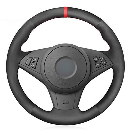 MDHANBK Funda para volante de coche cosida a mano, para BMW E60 E61 Touring 530d 545i 550i E63 Coupe E64 630i 645Ci 650i 2003-2010