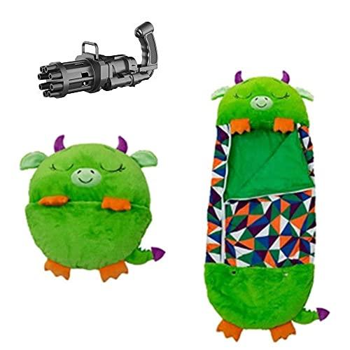 Play Almohada y Saco de Dormir 2 en 1 Animales de Dibujos Animados Bolsa de Dormir Almohada Super Soft Warm Packs Pantalones Almohada Spring Neck Almohada Saco de Dormir