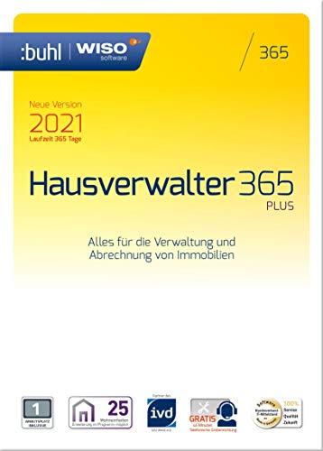 WISO Hausverwalter 365 Plus - Modernes Mieter-Management für bis zu 25 Wohnungen (Frustfreie Verpackung) (aktuelle Version 2021)|2021|1 Gerät|1 Jahr|PC|Disc|Disc