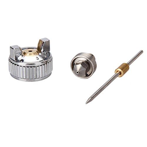 Madlife Garage 1,0 mm Düse für Mini HVLP Lackierpistole Spritzpistole Düsen Nadel Set