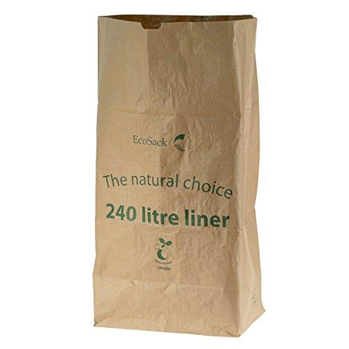 All-Green 240 Liter (240L) kompostierbare Papiermüllsäcke, 10 Müllsäcke