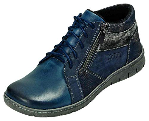 MICCOS Shoes Stiefel D.Schnürstfl in blau/Komb, Größe 37.0,
