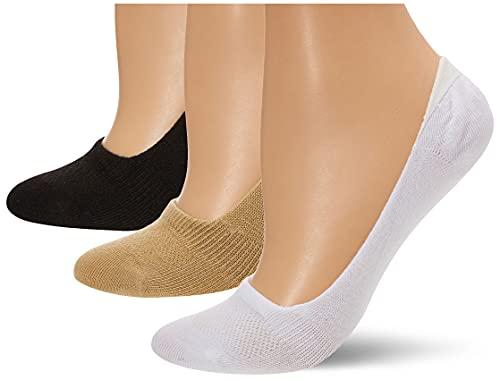 Hanes Women's 6-Pack Invisible Comfort Ballerina Liner, Grey Wardrobe, Shoe Size: 5-9