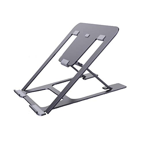 SSCYHT Laptop Stand Portable Height Adjustable Ergonomic Aluminum Computer Stand for Laptop Foldable Notebook Stand Holder Riser Compatible,Black