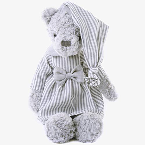 Huemny 30cm Pijamas Oso Juguetes de Felpa Juguetes de los Niños Bebé Appease Muñeca Kawaii Ropa Suave Oso de Peluche Juguetes Regalo para Parejas