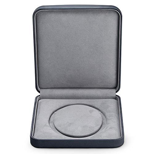 Oirlv Premium Leather Pearl Necklace Storage Box Microfiber Interior Big Necklace Jewelry Gift Case