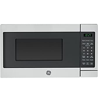 GE APPLIANCES JES1072SHSS Microwave Oven | 0.7 Cubic Feet Capacity 700 Watts | Kitchen Essentials for the Countertop or Dorm Room Cu Ft Stainless Steel