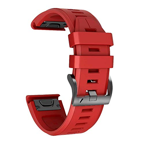NotoCity Garmin Fenix 3 Correa, Silicona Reemplazo Correa para Garmin Fenix 5X/Fenix 5X Plus/Fenix 6X/Fenix 6X Pro/Fenix 3/Fenix 3 HR, Easy-Fit, no Adapta a Fenix 5