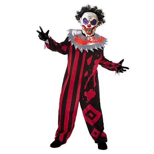Spooktacular Creations Child Unisex Killer Clown Costume (S) Red