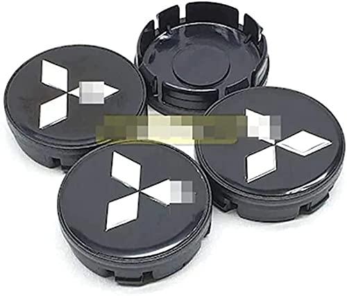 4 Piezas 58mm Tapas Centro Rueda para Mitsubishi ASX Ralliart Outlander Lancer Pajero Eclipse Galant, Resistente Al Agua Y Al Polvo CalcomaníAs de CalcomaníAs Coche Emblema Decorativa Accesorios