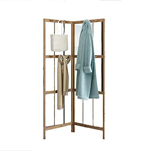 Porte-manteau QFFL d'angle, Support Mural, en Bois Massif, étagère, pour Le Salon de la Chambre à Coucher, 165x57cm / 64.9x22.2 inch Cintre Mural (Couleur : A)