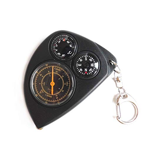 Unbekannt Drei-in-1-Kompass Portable Map Entfernungsmesser Keychain Kilometerzähler