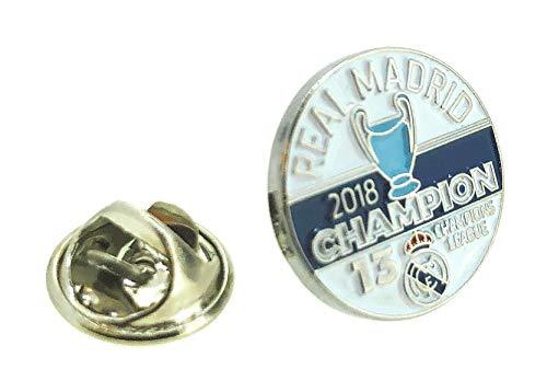 Gemelolandia | Pin de Solapa Real Madrid Campeón 13 Champions League | Pines Originales Para Regalar | Para las Camisas, la Ropa o para tu Mochila | Detalles Divertidos