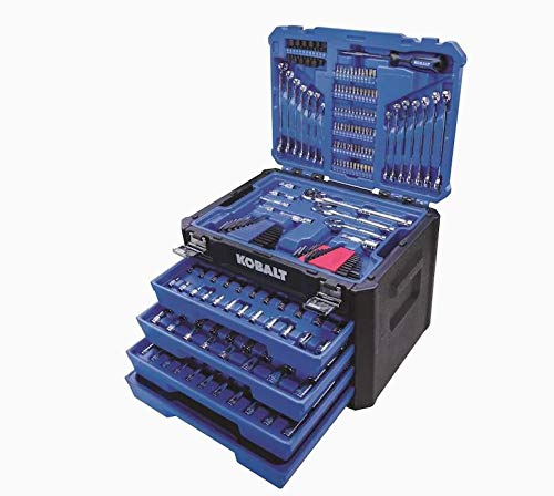 Kobalt 286-Piece Standard (SAE) and Metric Combination Polished Chrome Mechanics Tool Set