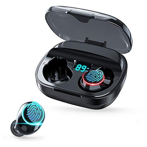 Bluetooth Earbuds, Geektop B1 Wireless Earbuds in-Ear Headphones 120h Playtime, IPX7 Waterproof TWS Stereo LED Battery Display for Samsung iPhone iPad, Sport Headset for Sleep Workout Swimming Gaming