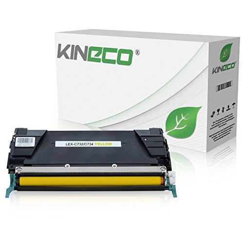 Toner kompatibel zu Lexmark Optra C732, C734DN, C736DN, CS735dn, X734dw, X736de, X738de - C734A2YG - Yellow 6.000 Seiten