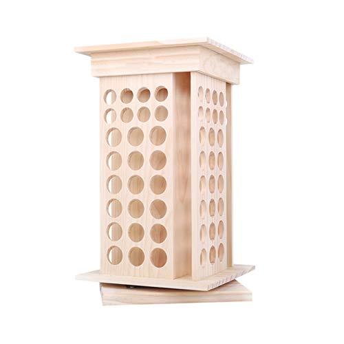 LTLGHY Holz Aromatherapie Geschenk-Box, 104 Aufbewahrungsbox Für Rotierende Ätherische Öle Aromatherapie-Organizer Tragbarer Ätherischer Öl-Organizer Für Nagellack Lippenstift