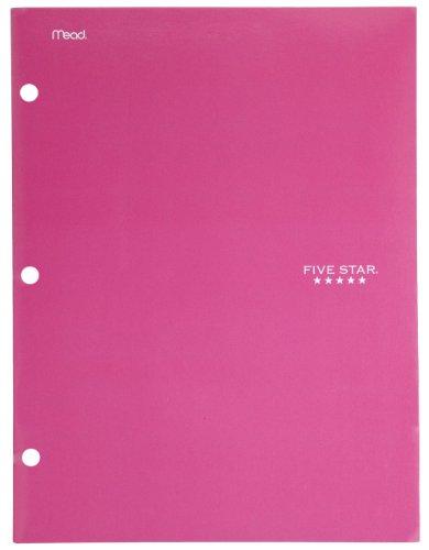 Five Star Folder, 4-Pocket, Pink (72085)