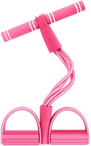 Cinta Elastica Fitness, Multifuncion Cuerda Elástica de Tracción Banda de Resistencia de Pedal Cuerda de 4 Tubos de Pedal, Cuerda de Tensión, Expansor de Culturismo,Aparatos para Hacer Ejercicio casa