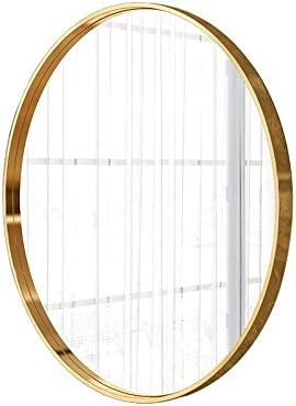 Round Gold Max 63% OFF Bathroom Wall Mirror Max 60% OFF Alloy 24inch Frame Van Aluminum