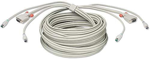 LINDY KVM Cable - 1m Cable para Video, Teclado y ratón (kvm)...