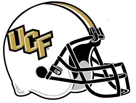 2 Inch UCF Logo Football Helmet Decal Knights University of Central Florida Removable Wall Sticker Art NCAA Home Room Decor 1 1/2 by 1 1/2 Inches