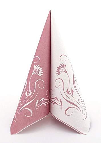 APARTina 50 Servietten rosa 40x40 cm stoffähnlich Airlaid - Elegantia Altrosa