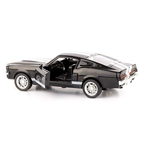 Mingchuan Brand Car GT500 1:32 Alloy Diecast Metal Pull Car Door Openable Race Sport Cars Toy for Boy Birthday Presents (Black)
