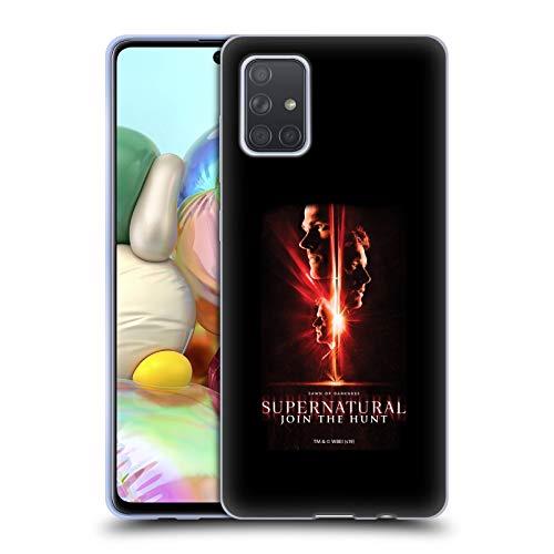 Offizielle Supernatural Sam, Dean & Castiel Schluessel Kunst Soft Gel Huelle kompatibel mit Samsung Galaxy A71 (2019)