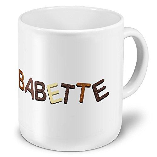 """XXL Riesen-Tasse mit Namen """"Babette"""" - Jumbotasse mit Design Schokolade - Namens-Tasse, Kaffeebecher, Becher, Mug"""