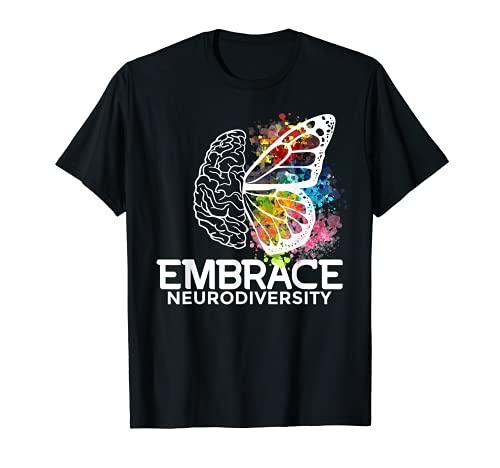 Abrazo la neurodiversidad - conciencia del ADHD Camiseta