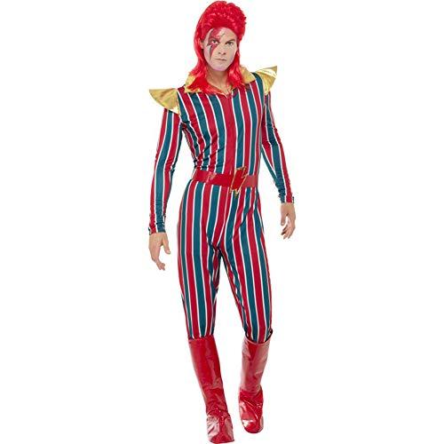 Smiffys Herren Weltraum Superstar Kostüm, Jumpsuit, Gürtel und Stiefel Überzieher, Größe: XL, 43858