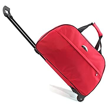 SENLI Luggage 20 Inch Rolling Duffle trolley bag travel bag tote Carry-On red