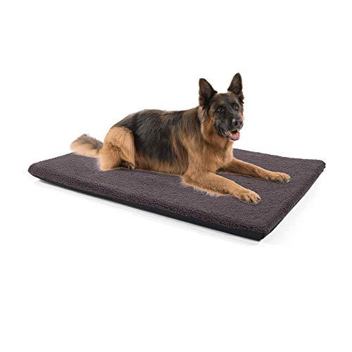 brunolie Nala große Hundedecke in Dunkelbraun, rutschfeste Hundematte mit Reißverschluss, für Hunde und Katzen geeignet, Größe L (120 x 80 x 5 cm)