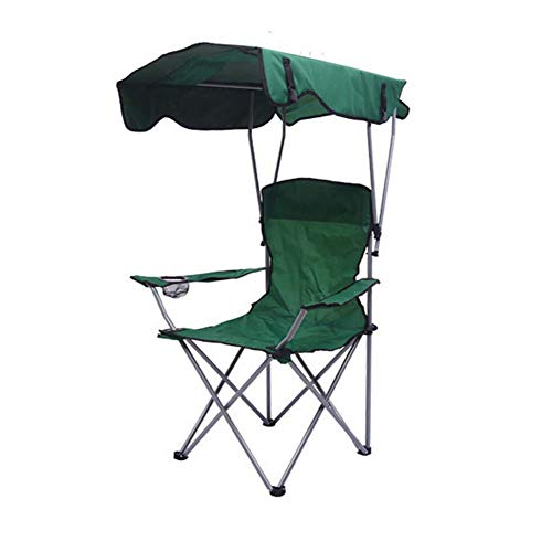 TZCC Outdoor portable folding beach chair Oxford cloth beach chair with canopy, rest chair, fishing chair with canopy and umbrella-red