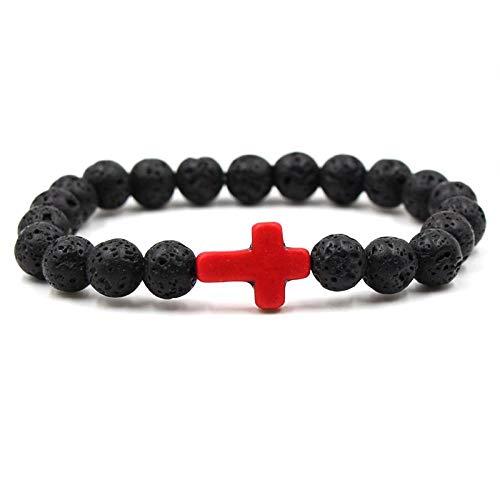 Bracelet Neue Volcanic Energy Lava Stone Black Charm Armbänder Für Frauen Männer Yoga Perlen Paar Schmuck A-3