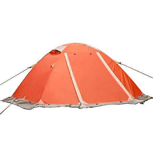 Tienda De Alpinismo Profesional Al Aire Libre A Prueba De Viento Impermeable A Prueba De Nieve Tienda De Falda para Acampar Expedición, 2 Personas,Orange
