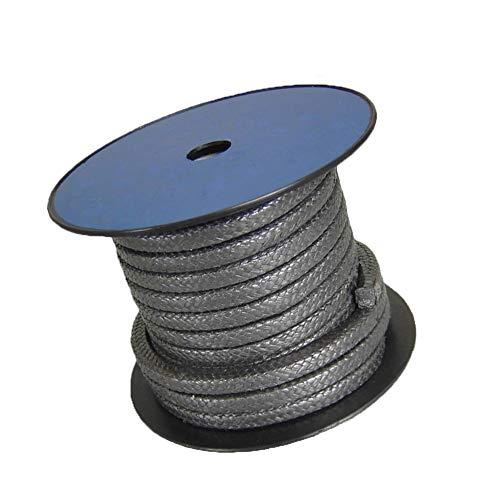 AFexm Empaquetadura de compresión de Grafito Empaquetadura de compresión de Grafito 5M / 16.4ft Usado en válvulas, Bombas, Caldera de reacción,Specification 10 x 10mm