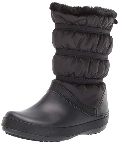 Crocs Crocband Winter Boot Women, Stivali da Neve Donna, Nero (Black), 36/37 EU