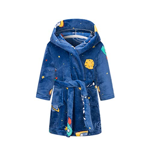 XINNE niños Traje niños niñas con Capucha Dormir Traje Suave Franela Albornoz Bata luz de la Luna