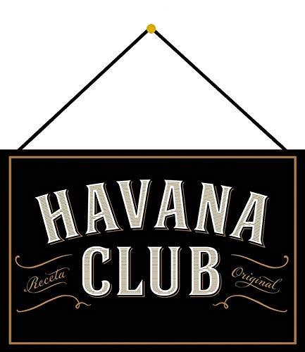 Blechschild 20x30cm gewölbt mit Kordel Havana Club Deko Geschenk Schild Tin Sign