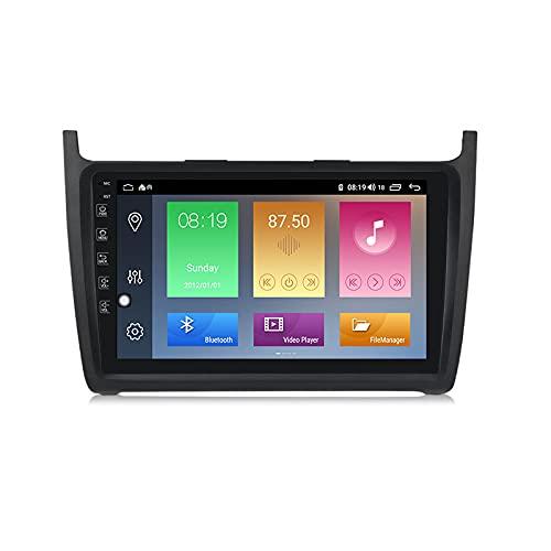 LIBINA Compatible con Volkswagen Polo 2008 2009 2010 2011 2012 2013 2014 2015 2016 2017 2018 2019 2020 Navegación GPS, Estéreo para Automóvil Bluetooth Phone Link + Carplay